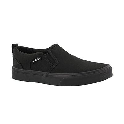 Bys Asher black/black slipon sneaker