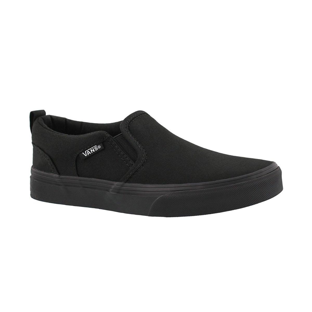 Boys' ASHER black/black slip on sneaker