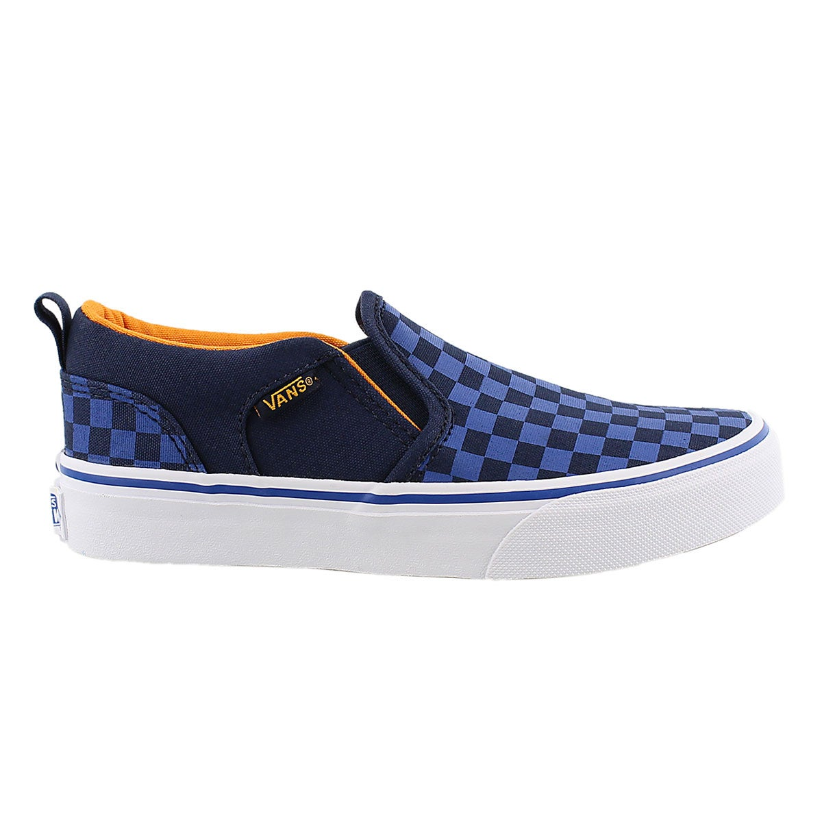 Bys Asher blue checkered slip on sneaker