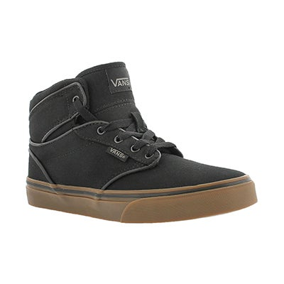 Bys Atwood Hi black lace up sneaker