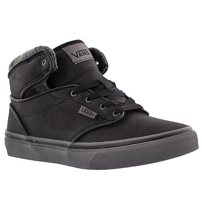 Vans Boys' ATWOOD HI black lace up sneaker