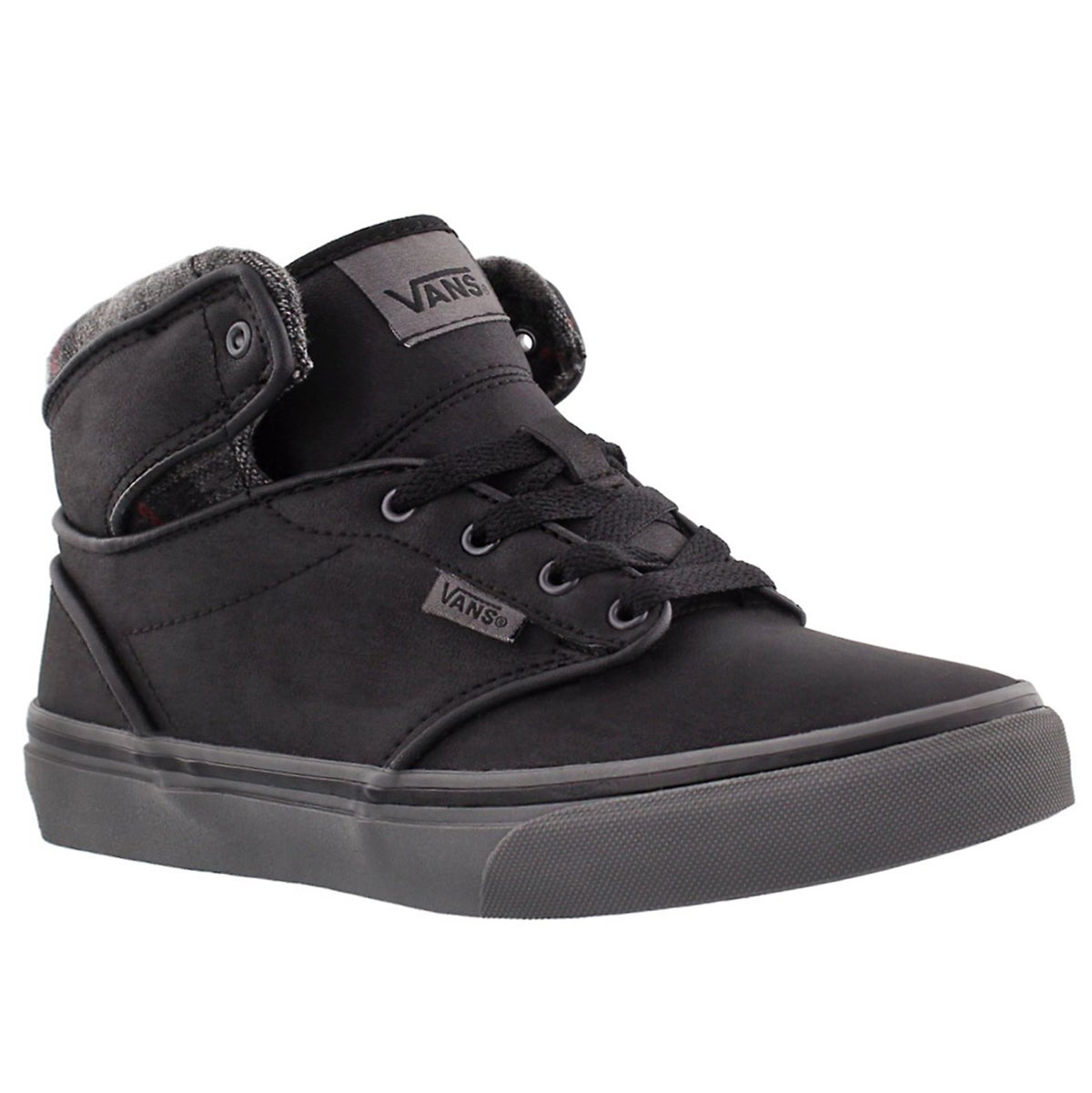 Bys Atwood Hi blk leathr lace up sneaker