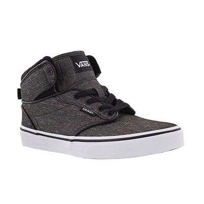 Vans Boys' ATWOOD HI black/white lace up sneaker