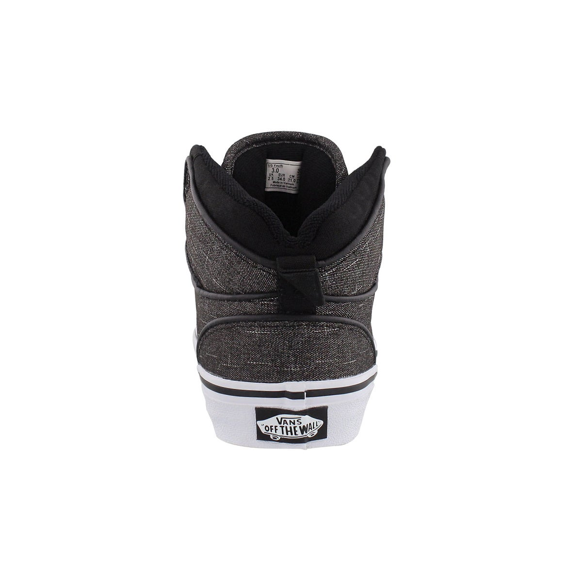 Bys Atwood Hi blk/wht lace up sneaker