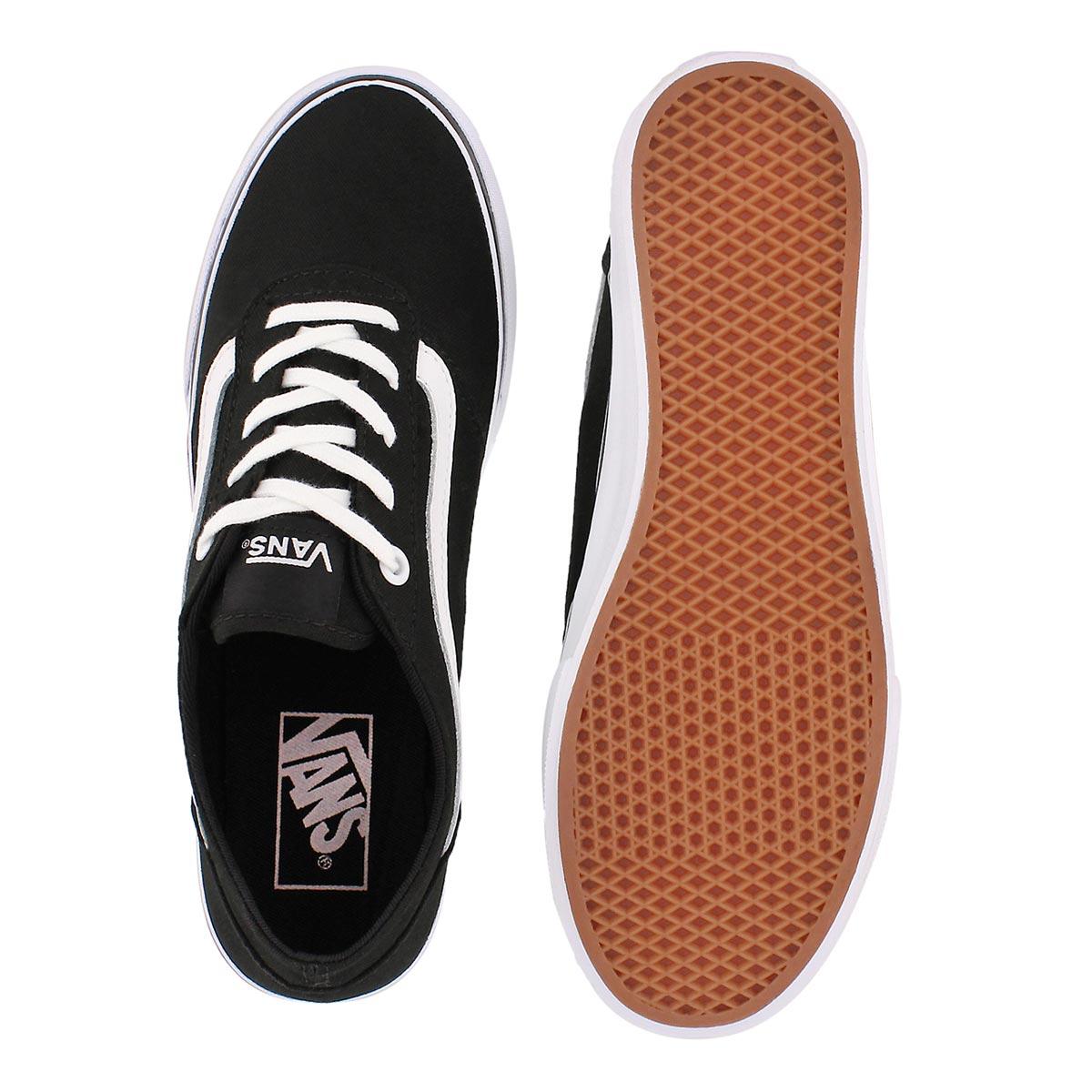 Lds Milton blk/wht lace up sneaker