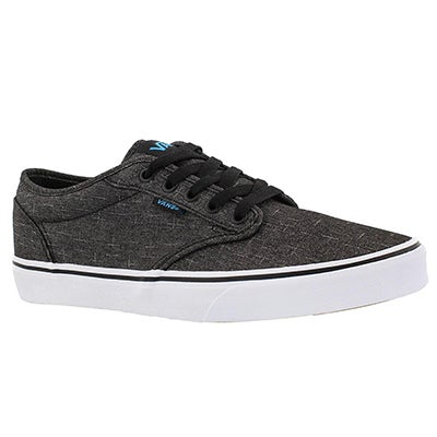 Vans Men's ATWOOD black/blue laceup sneakers