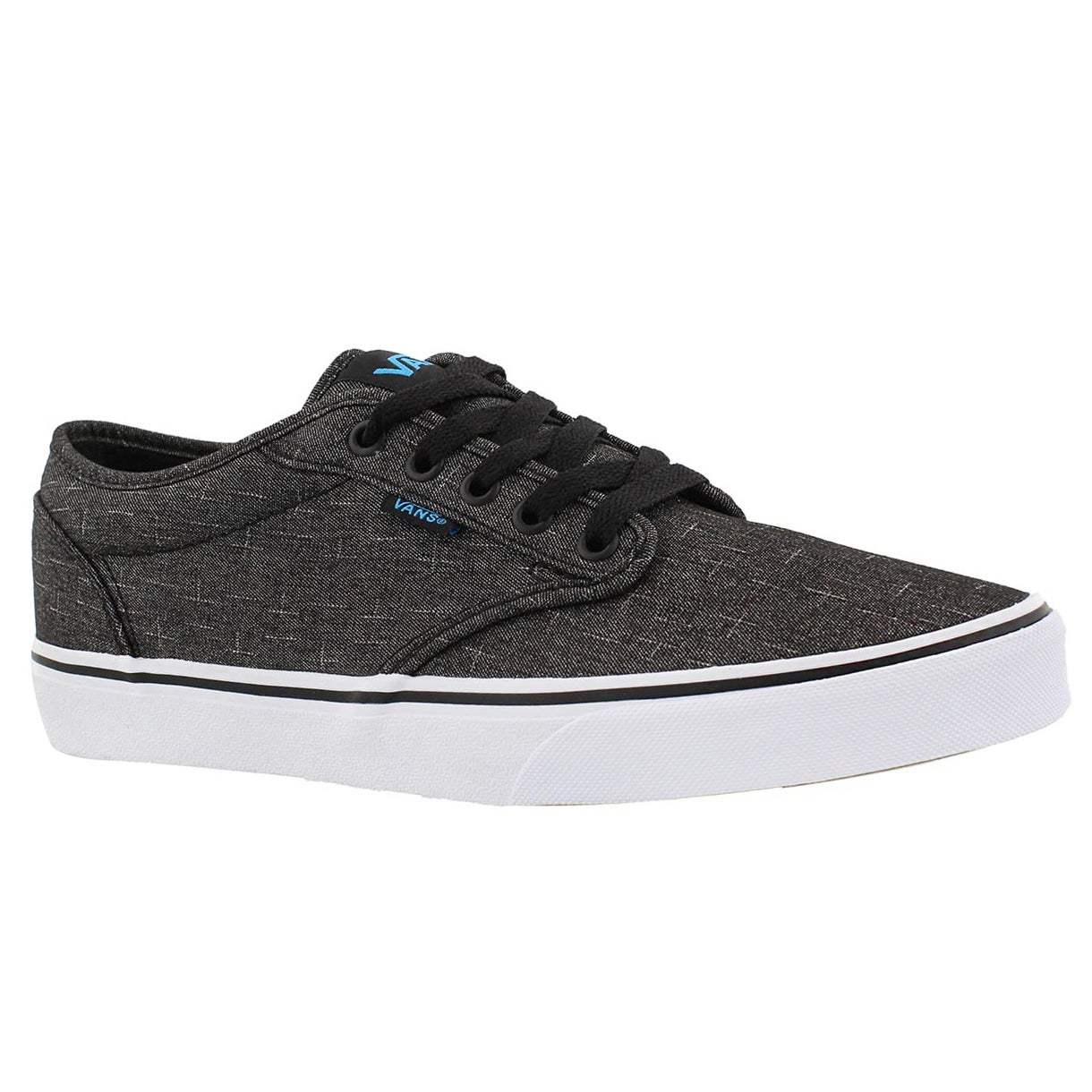 Mns Atwood blk/blu laceup sneaker