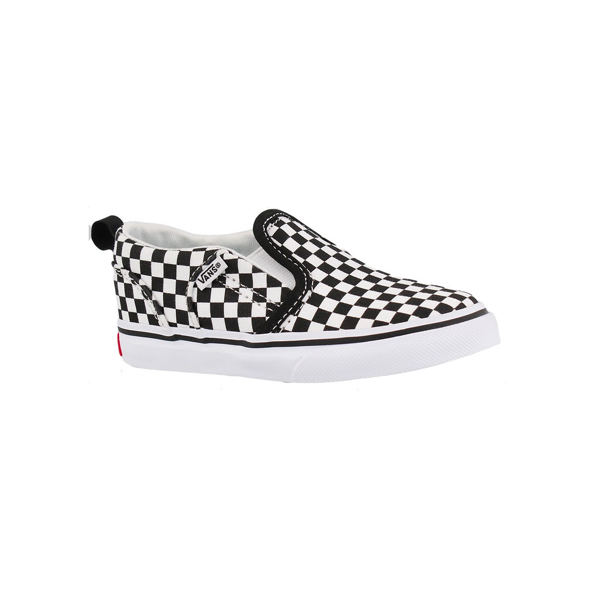 Infants' ASHER blk/wht checkard slip on sneakers