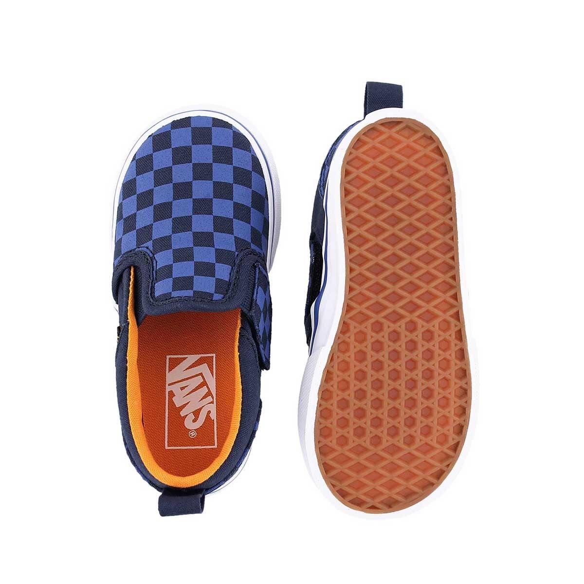 Infs Asher blu checkered slip on sneaker
