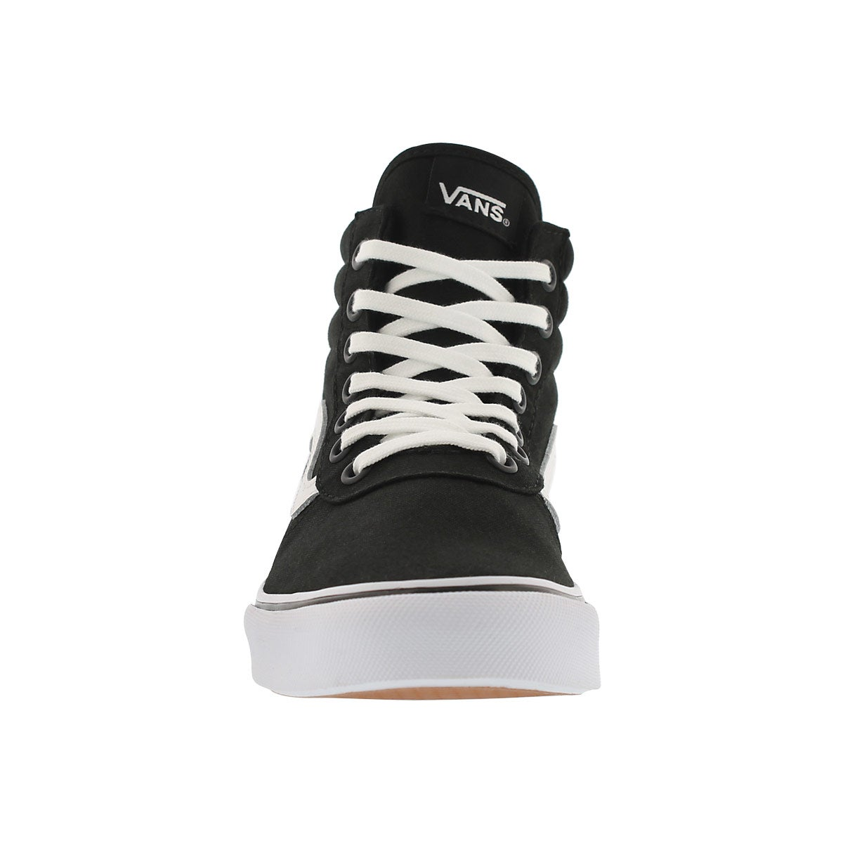Lds Milton Hi blk/wht lace up sneaker