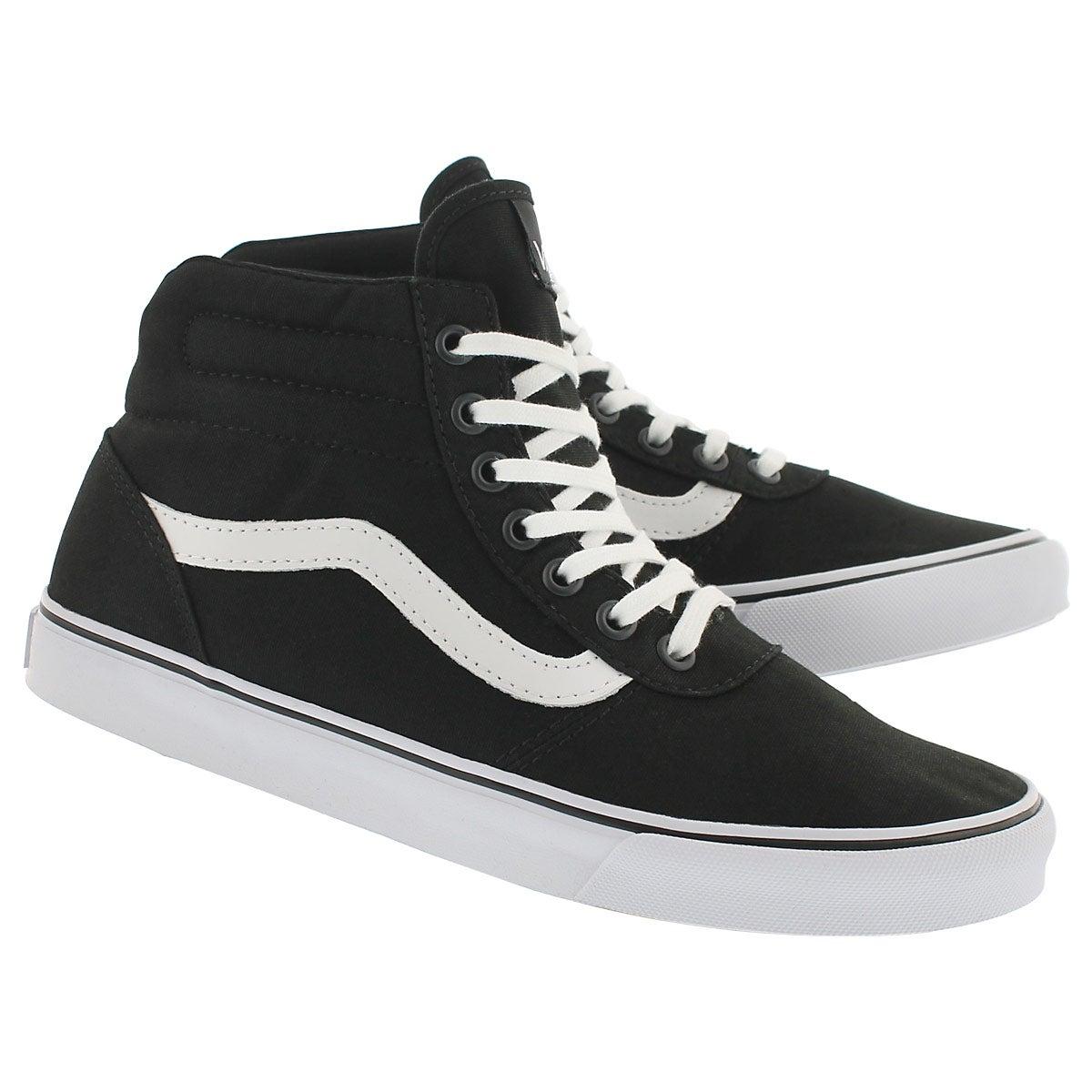 Lds Milton Hi blk/wht lace up sneaker