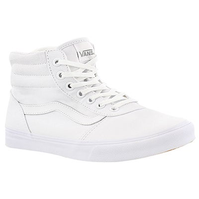 Vans Women's MILTON HI white lace up sneakers