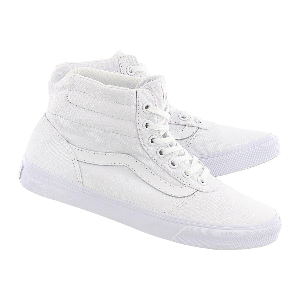Lds Milton Hi white lace up sneaker