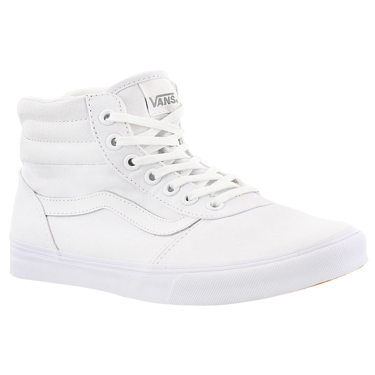 Women's MILTON HI white lace up sneakers