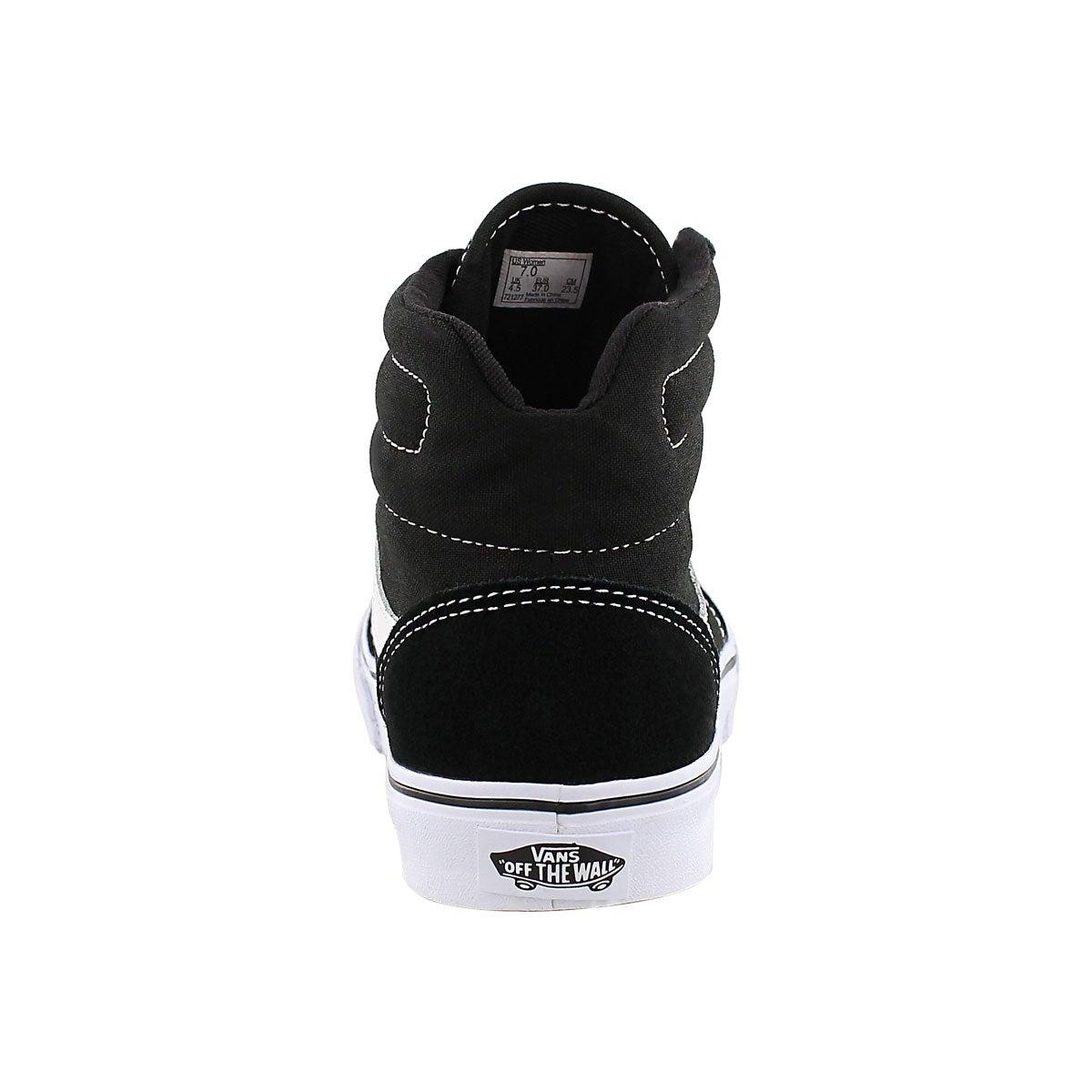 Lds Milton Hi black lace up sneaker