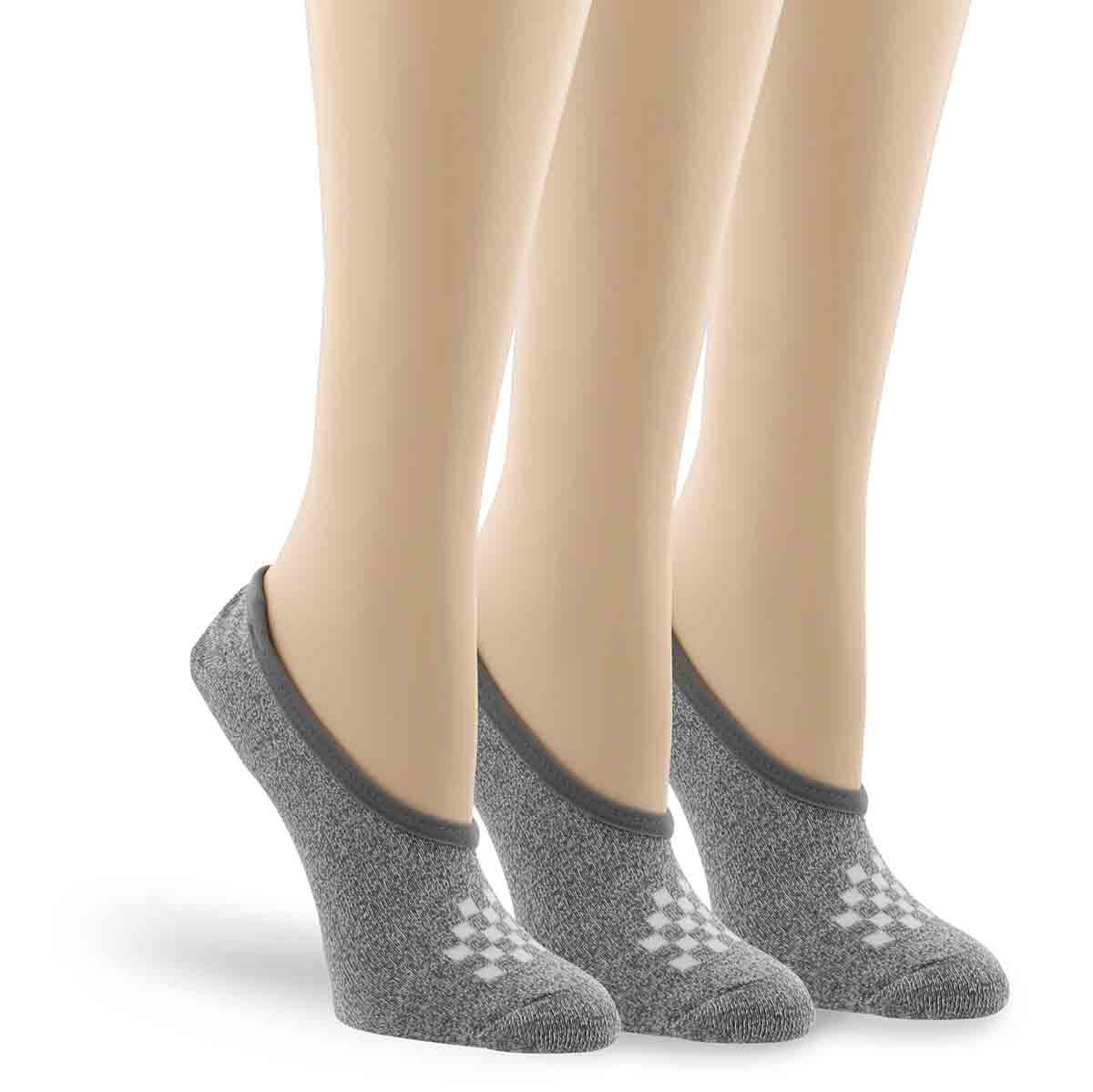 Lds Basic Canoodle grey ankle sock 3p