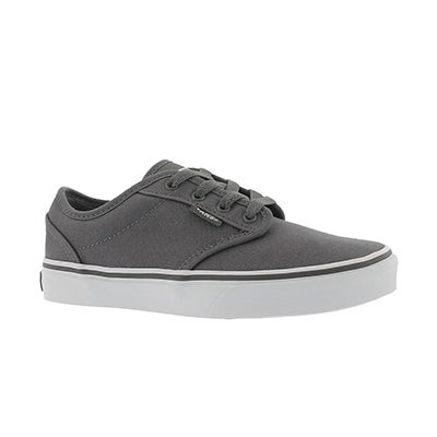 Vans Boys' ATWOOD pewter/white lace up sneakers
