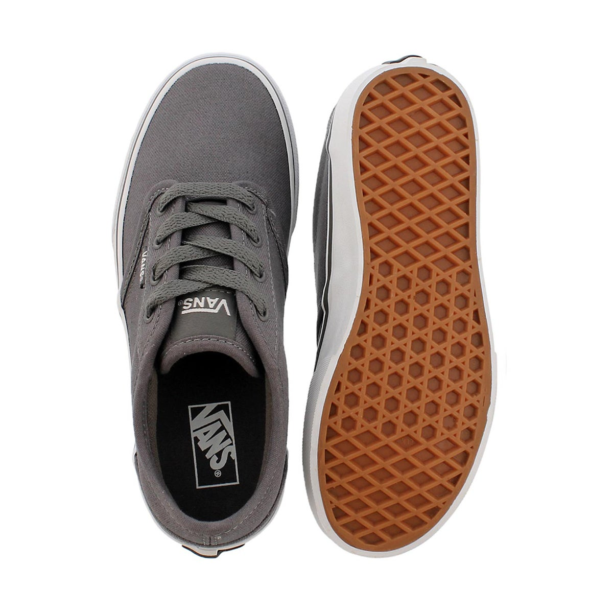 Bys Atwood pwtr/wht cnvs lace up sneaker