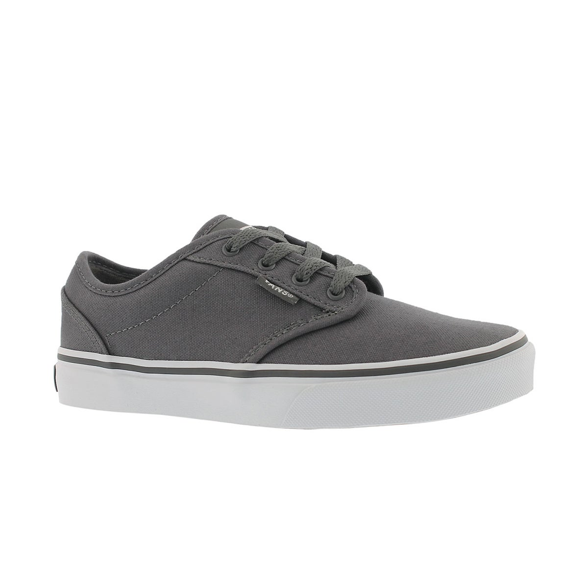 Boys' ATWOOD pewter/white lace up sneakers