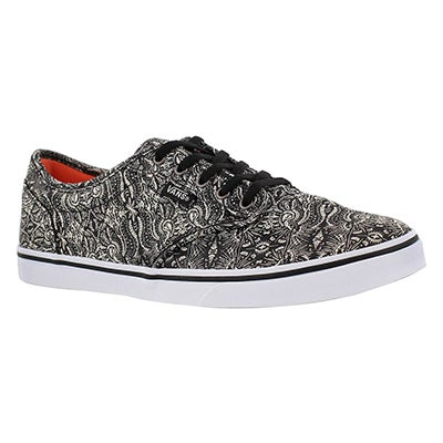 Vans Women's ATWOOD LOW black/white laceup sneakers