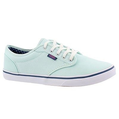 Vans Women's ATWOOD LOW sea green lace up sneakers