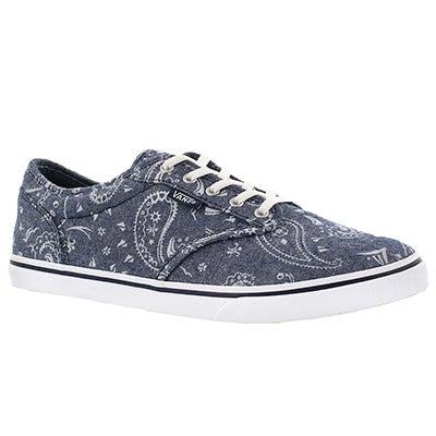 Vans Women's ATWOOD LOW bandana print laceup sneakers