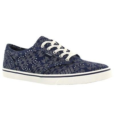 Vans Women's ATWOOD LOW indigo print laceup sneakers