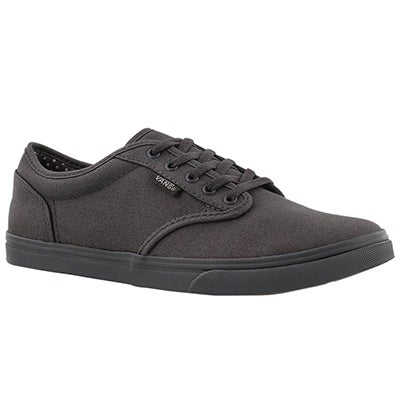 Vans Women's ATWOOD LOW asphalt lace up sneakers
