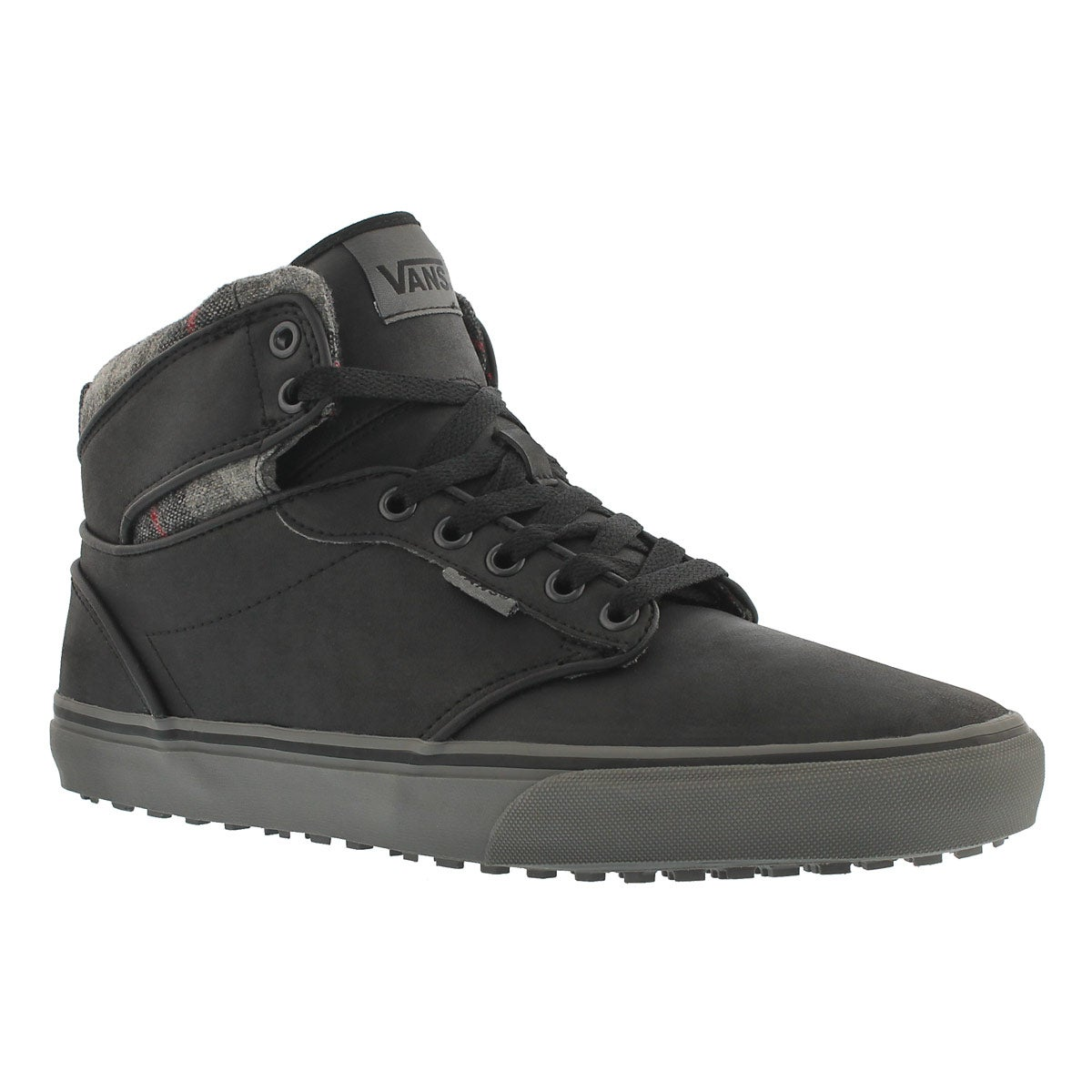 Men's ATWOOD HI MTE leather blk lace up sneakers