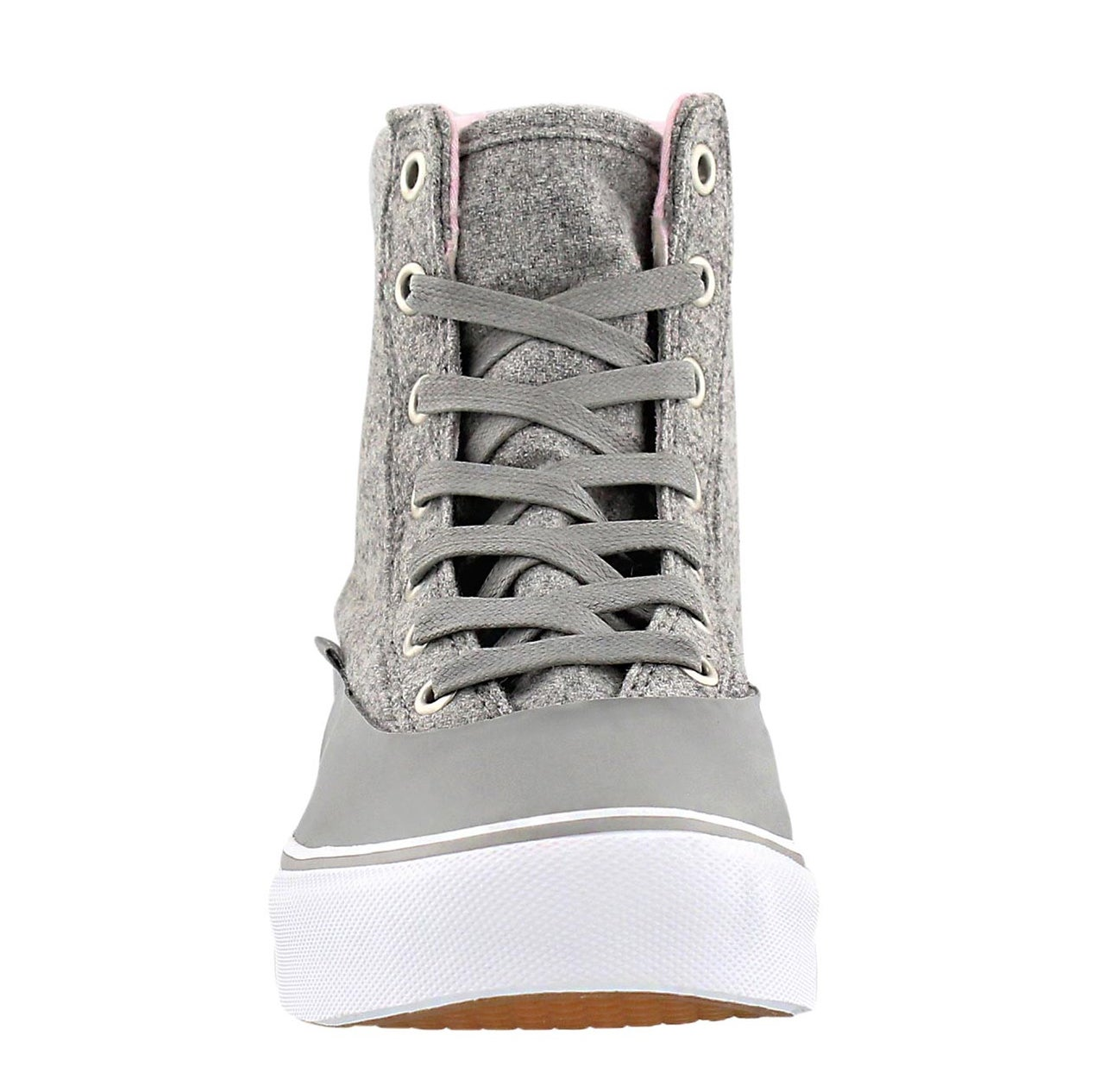 Lds Camden Hi Zip MTE grey lace up snkr