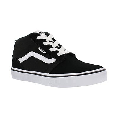 Bys Chapman Mid blk/wht lace up sneaker