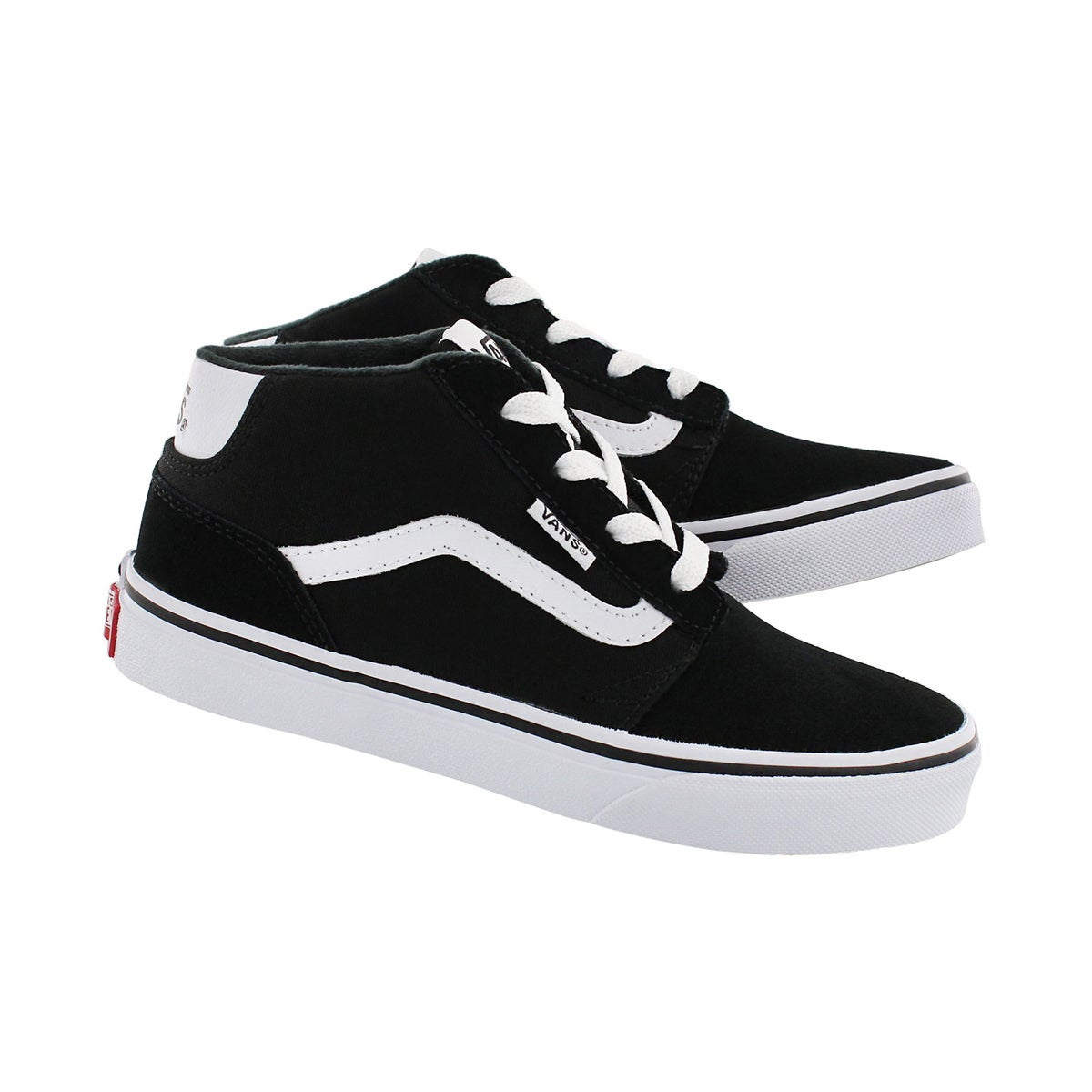 Bys Chapman Mid blk/wht lace up sneaker