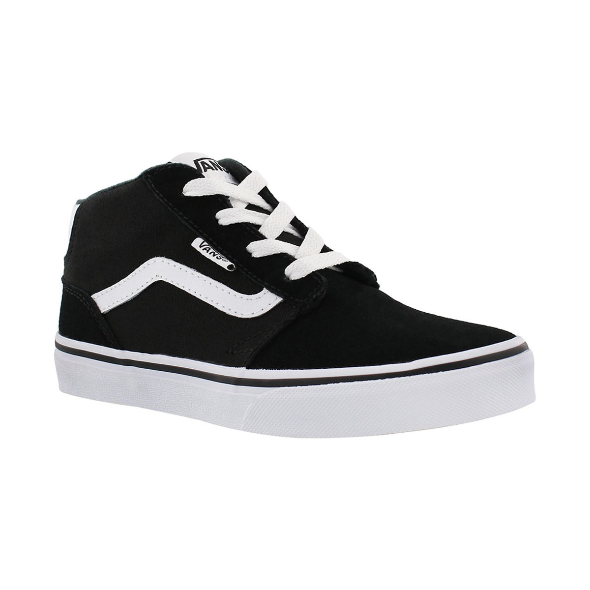 Boys' CHAPMAN MID black/white lace up sneakers