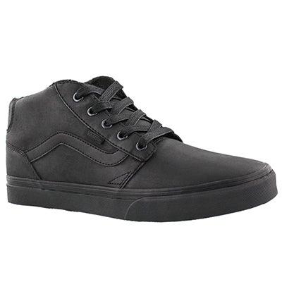 Vans Men's CHAPMAN MID black laceup sneakers