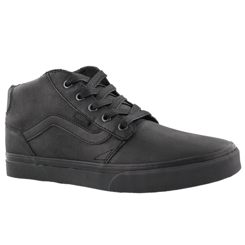 Mns Chapman Mid black ltr laceup sneaker