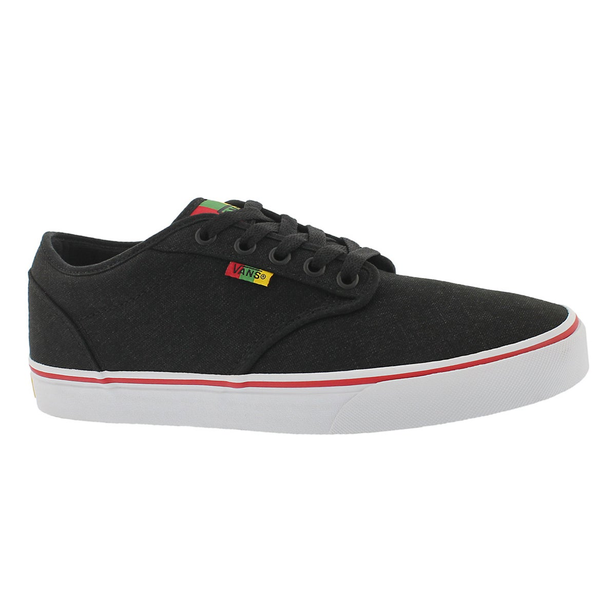 Men's ATWOOD rasta canvas laceup sneakers