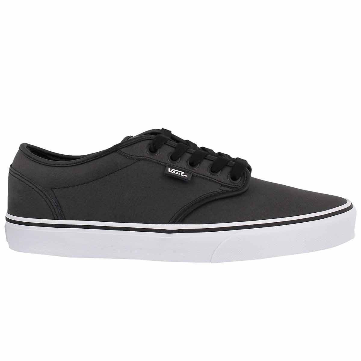 Mns Atwood blk/wht lthr lace up sneaker