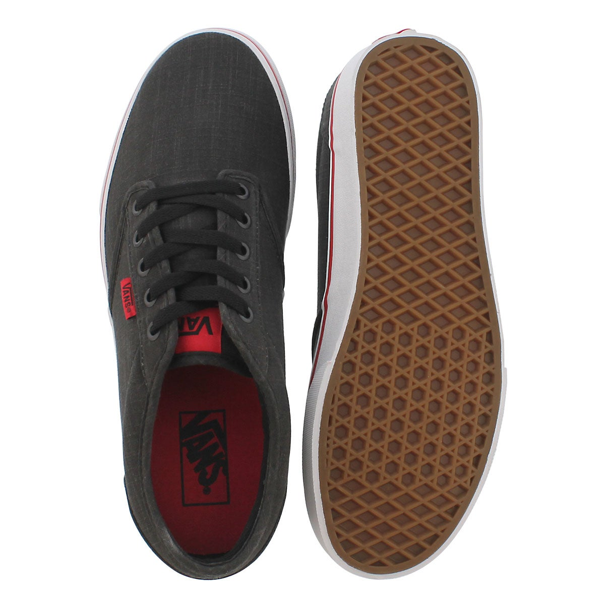 Mns Atwood blk/red laceup sneaker