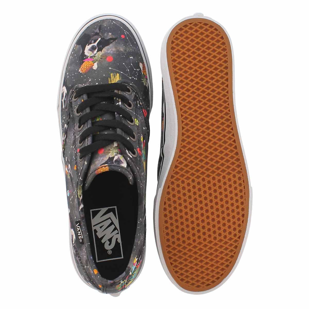 Lds Camden Stripe bk/mlti laceup sneaker