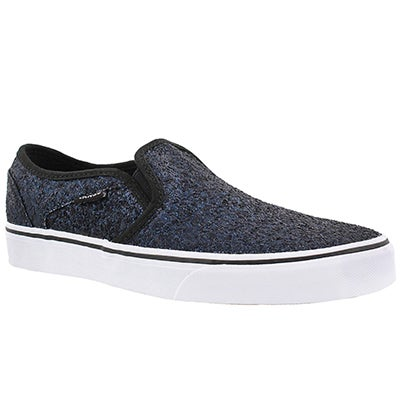 Vans Women's ASHER midnight blue slip on sneakers