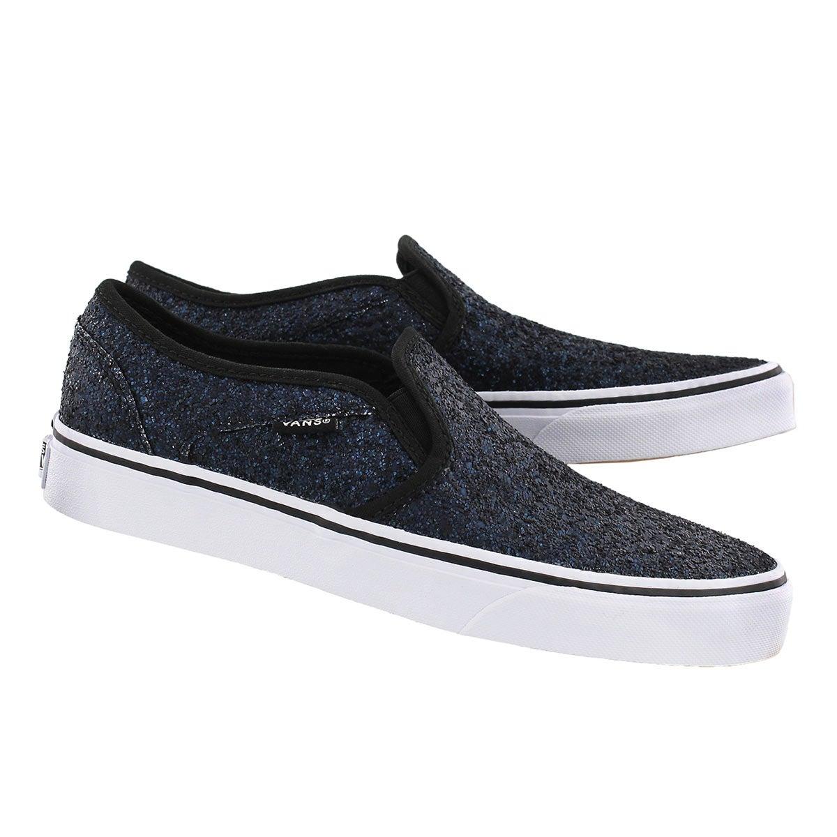 Lds Asher midnight blue slip on sneaker