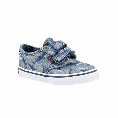 Vans Infants' ATWOOD blue sharks canvas sneakers