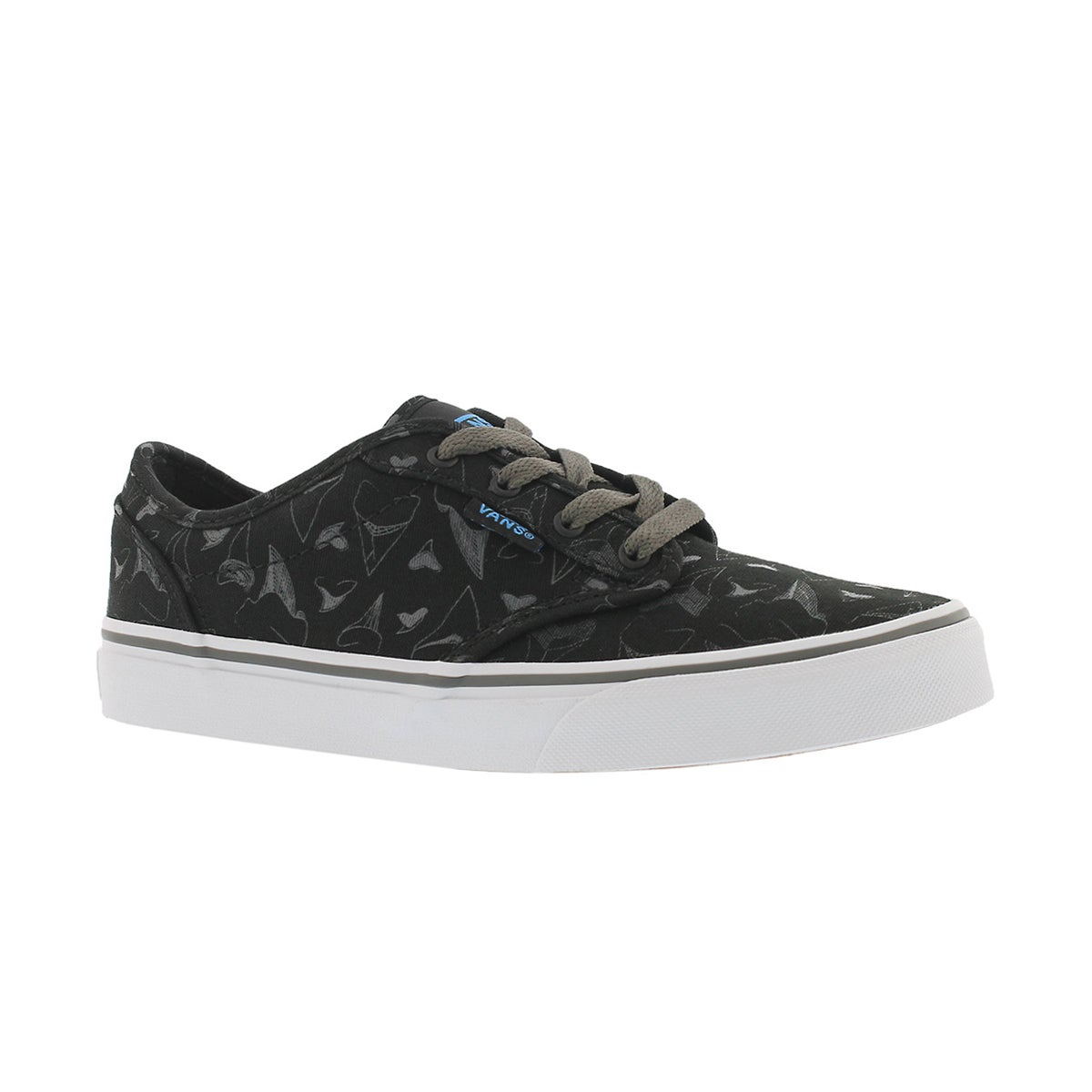 Boys' ATWOOD black canvas lace up sneakers