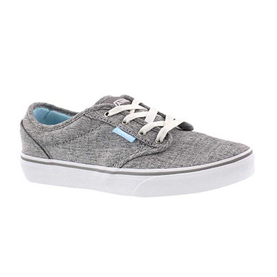 Grls Atwood gry/blu lace up sneaker