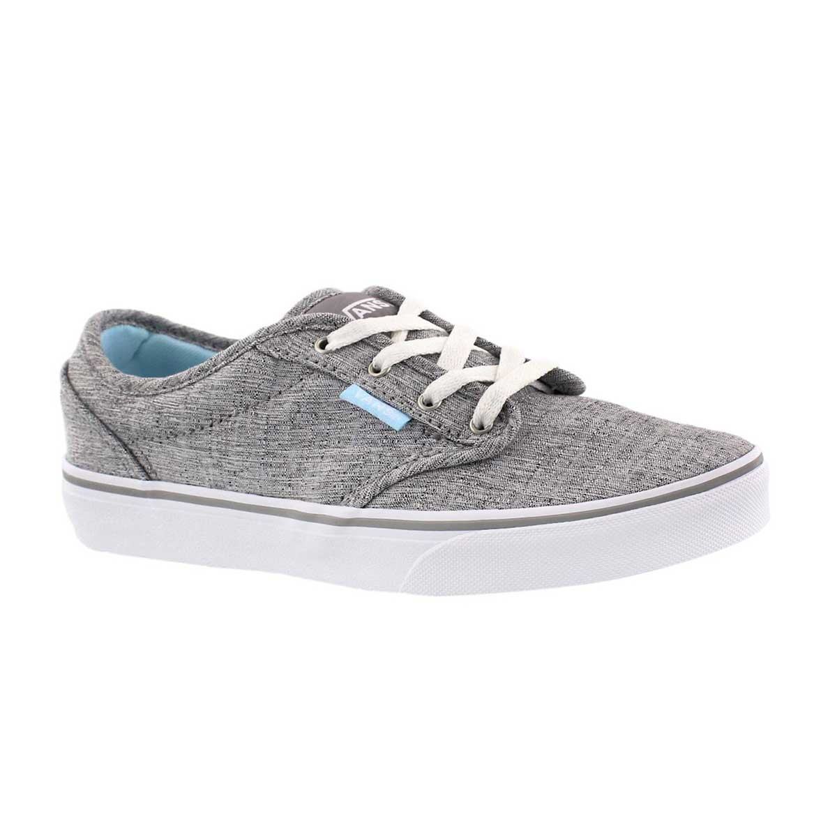 Girls' ATWOOD grey/blue lace up sneakers