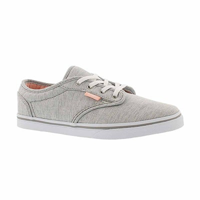 Vans Girls' ATWOOD grey/pink lace up sneakers