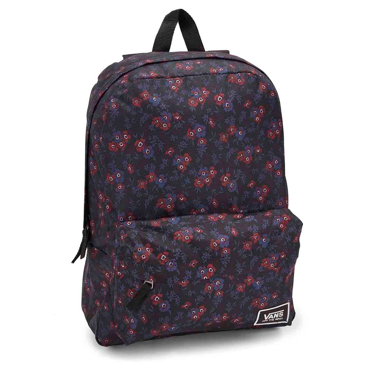Unisex REALM CLASSIC black blooms backpack
