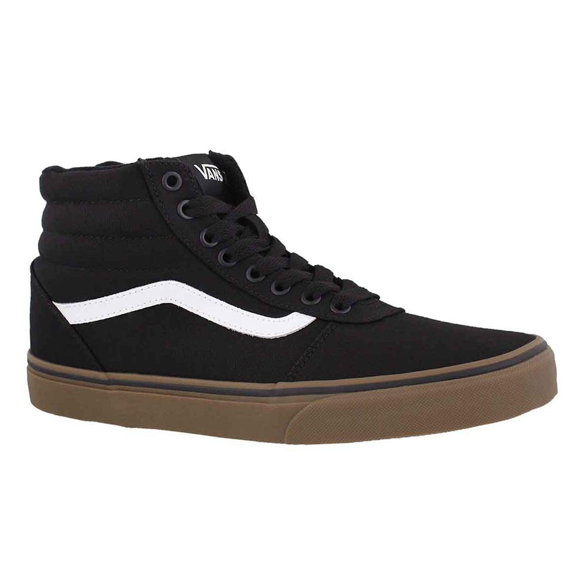 Men's WARD HI black/gum lace up sneakers