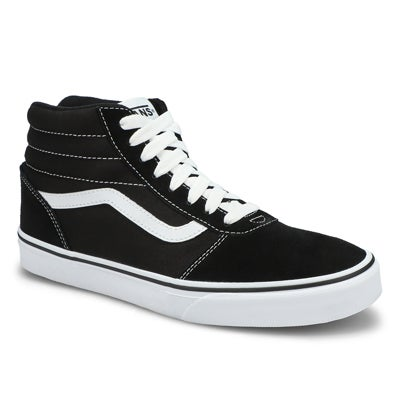 Mns Ward Hi blk/wht lace up sneaker
