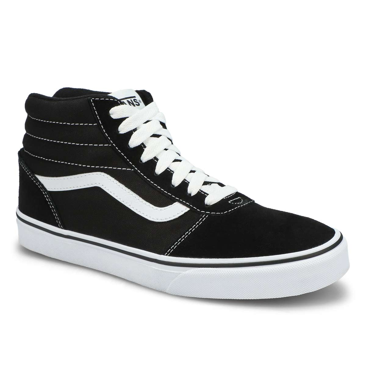 Men's WARD HI black/white lace up sneakers